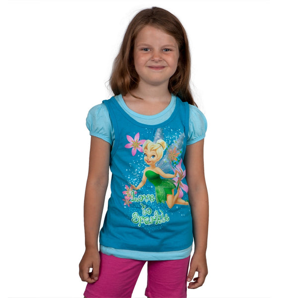Tinkerbell - Love to Sparkle Girls Juvy Short Sleeve 2fer