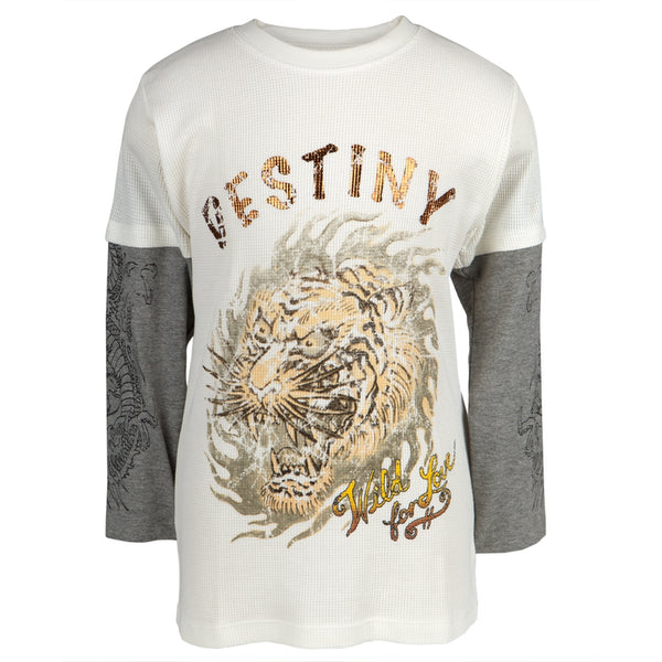 Ed Hardy - Destiny Tiger Youth 2fer Long Sleeve T-Shirt