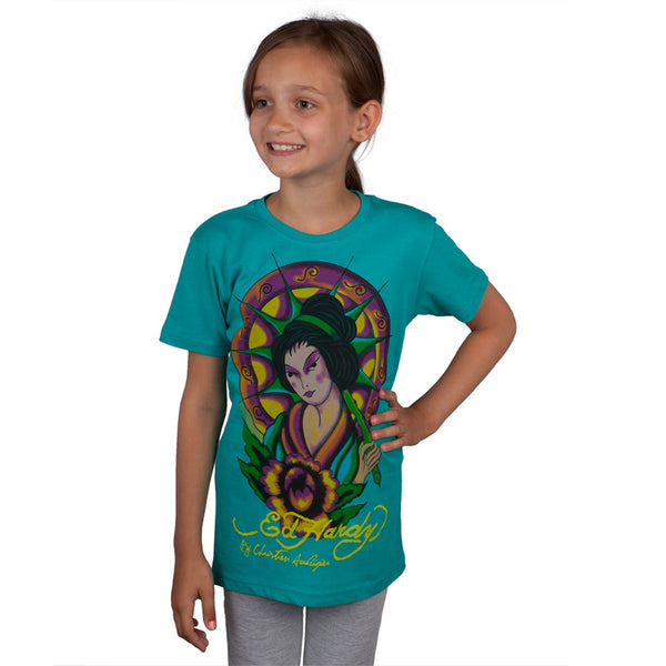 Ed Hardy - Geisha Sunburst Girls Youth Shirt
