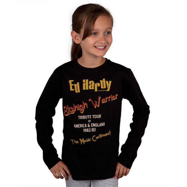 Ed Hardy - Tribute Tour 1982/83 Girls Juvy Long Sleeve T-Shirt