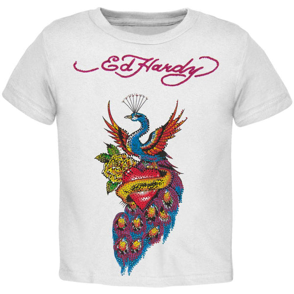 Ed Hardy - Peacock & Heart Girls Juvy T-Shirt