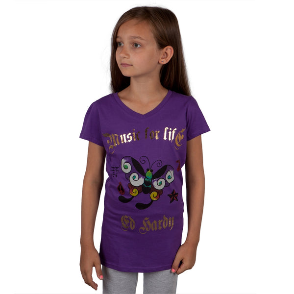 Ed Hardy - Butterfly Girls Youth T-Shirt