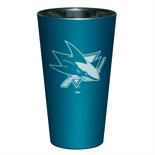 San Jose Sharks - Logo Lusterware Pint Glass