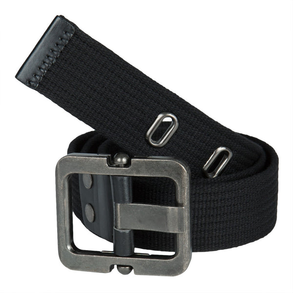 Black Grooved Web Belt