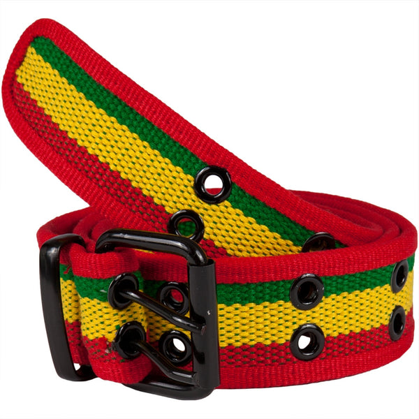 Rasta Web Double Grommet Belt