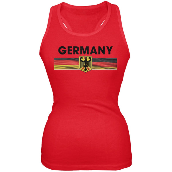 World Cup Germany Eagle Crest Red Soccer Juniors Tank Top