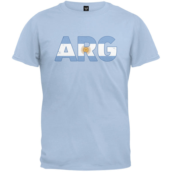World Cup ARG Argentina Distressed Blue T-Shirt