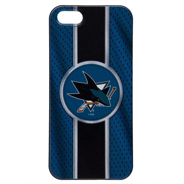 best service 00e9f aa9d3 San Jose Sharks - Logo Jersey Stripe iPhone 5 5S Thinshield Snap-On Case