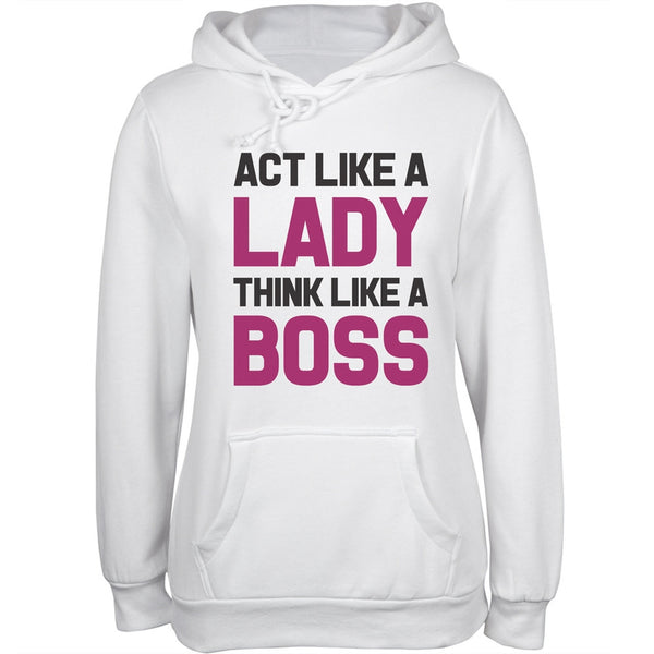 Act Like a Lady Juniors Hoodie