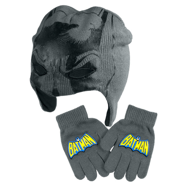 Batman - Mask Peruvian Hat & Glove Set