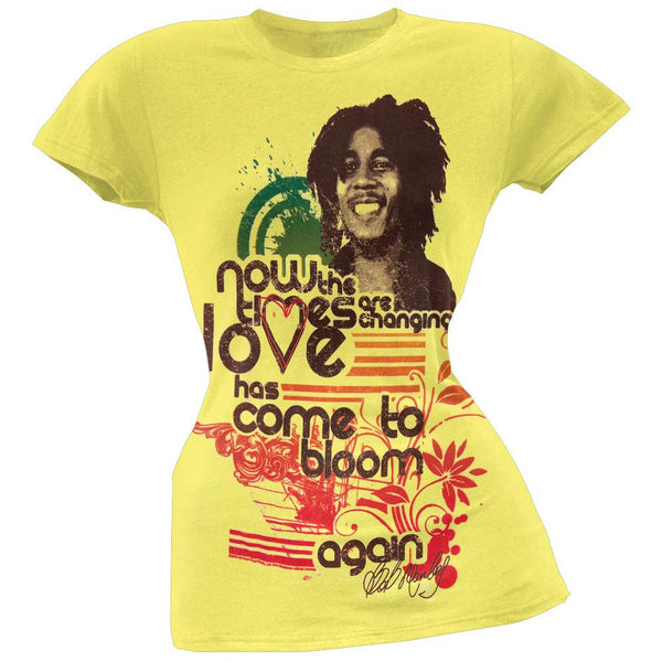 Bob Marley - Love Has Come to Bloom Juniors T-Shirt