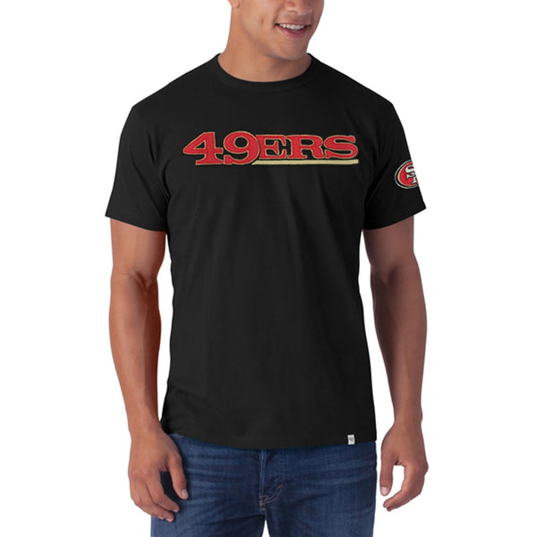 San Francisco 49ers - Logo Fieldhouse Premium Black T-Shirt