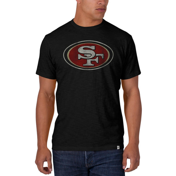 San Francisco 49ers - Logo Scrum Premium Black T-Shirt 87f4705bf