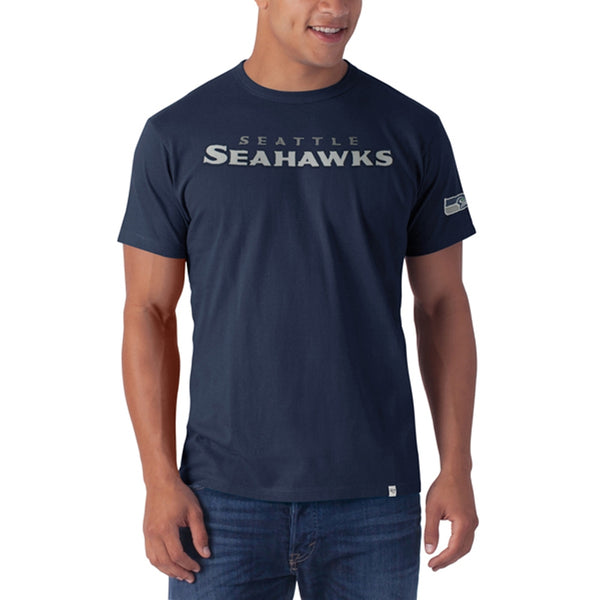 Seattle Seahawks - Logo Fieldhouse Premium Black T-Shirt