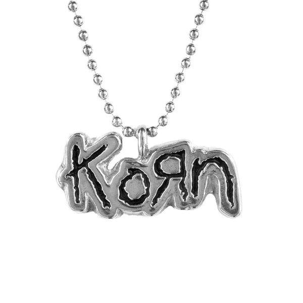 Korn - Die Cut Pendant - Chain Necklace