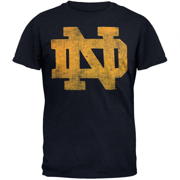 Notre Dame Fighting Irish - Logo Scrum Navy Premium T-Shirt