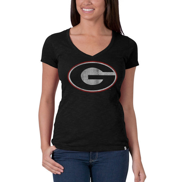 Georgia Bulldogs - Scrum Premium V-Neck Juniors T-Shirt