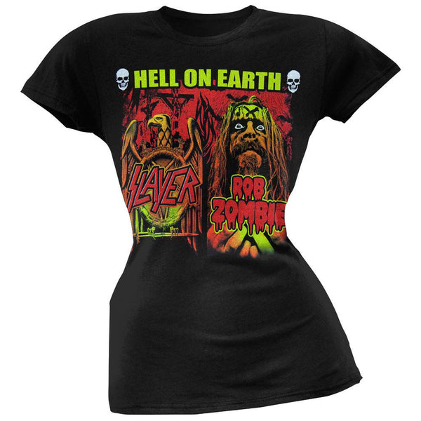 Rob Zombie - Slayer/Rob Zombie Hell On Earth Juniors T-Shirt