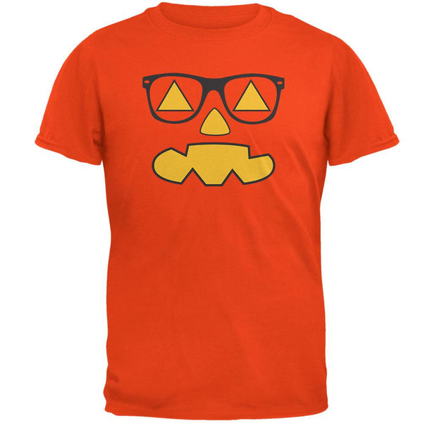 Pumpkin Face with Sunglasses Orange T-Shirt