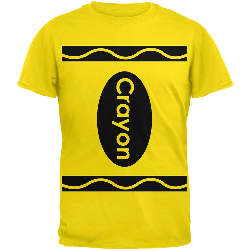 81f16964 Halloween Crayon Costume Yellow T-Shirt – OldGlory.com