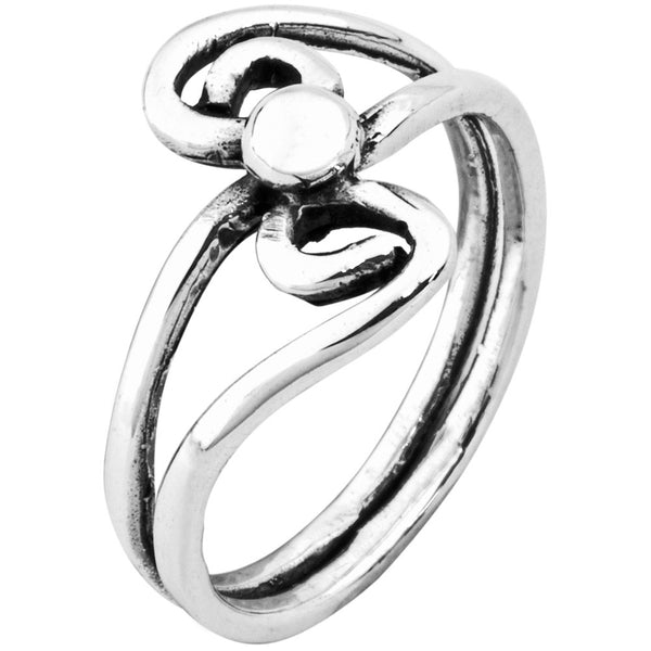 Dual Spiral Sterling Silver Ring