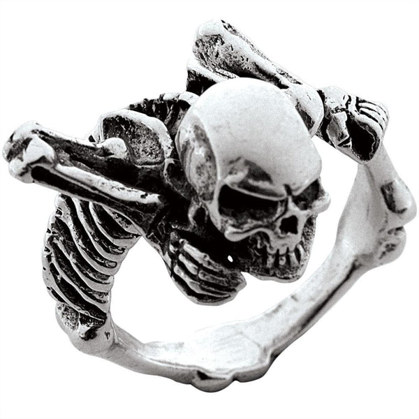 Crawling Skeleton Sterling Silver Ring