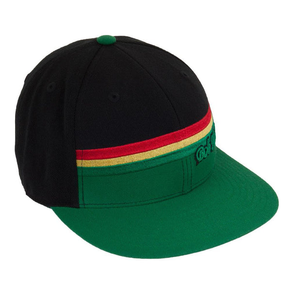 Bob Marley - Green Rasta Stripe Fitted Cap