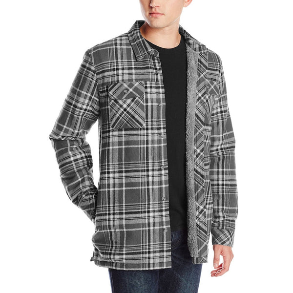 O'Neill - Shelter Grey Plaid Fleece Long Sleeve Button-Up Shirt