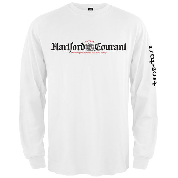Hartford Courant Standard Logo White Adult Long Sleeve T-Shirt