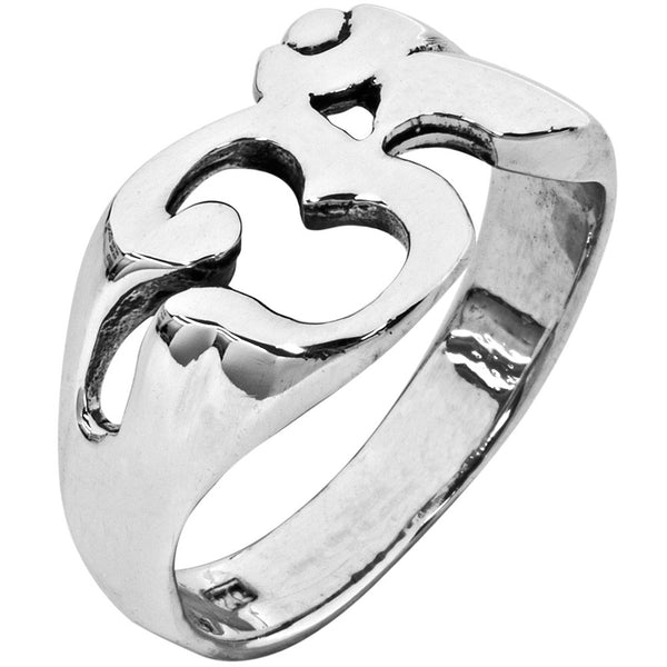 Large Ohm Sterling Silver Ring