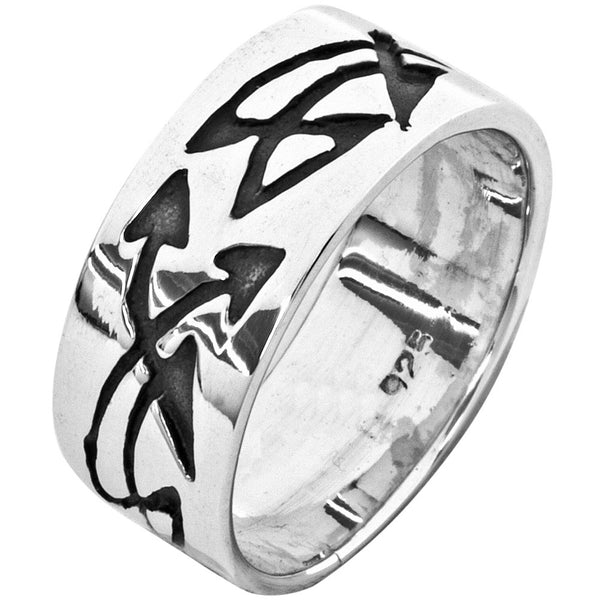 Tribal Arrows Sterling Silver Ring