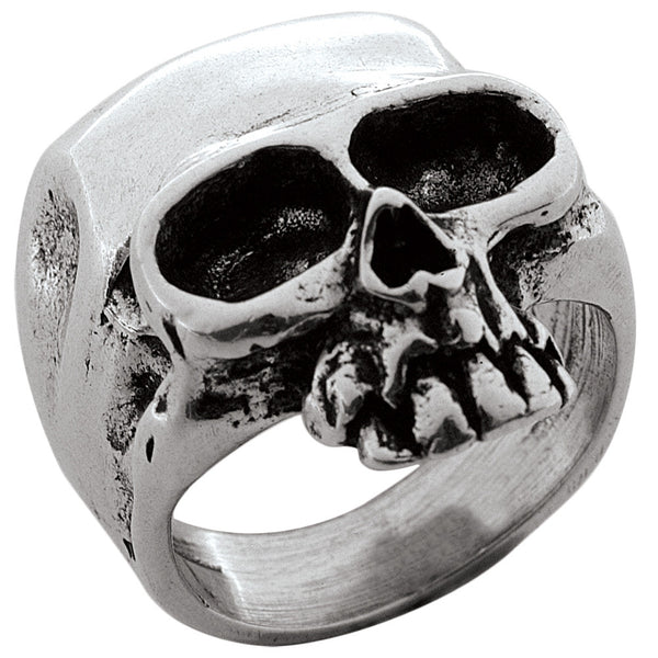 Medium Skull Sterling Silver Ring