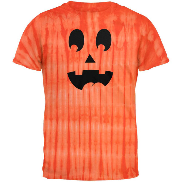 Halloween Jack-O-Lantern Surprised Face Tie Dye T-Shirt
