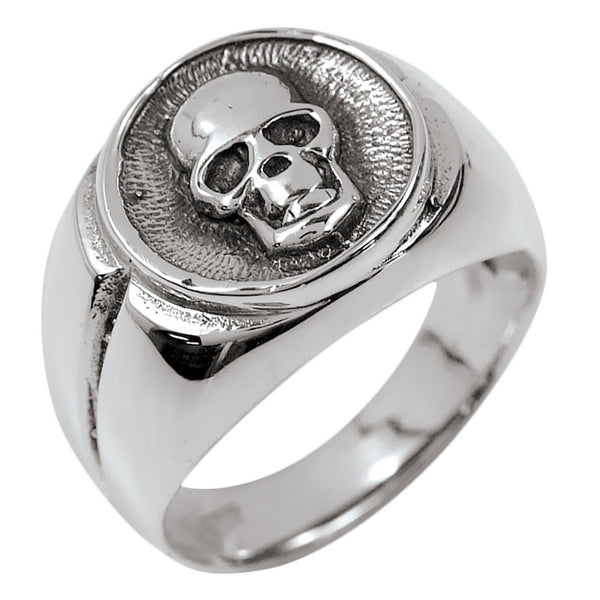 Skull Signet Sterling Silver Ring