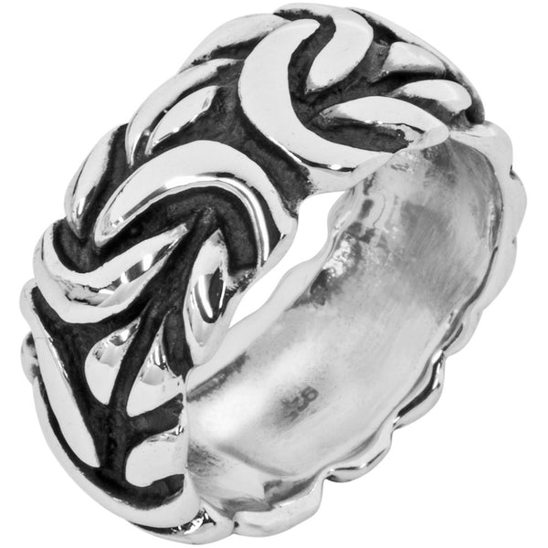 Large Braid .925 Sterling Silver Ring