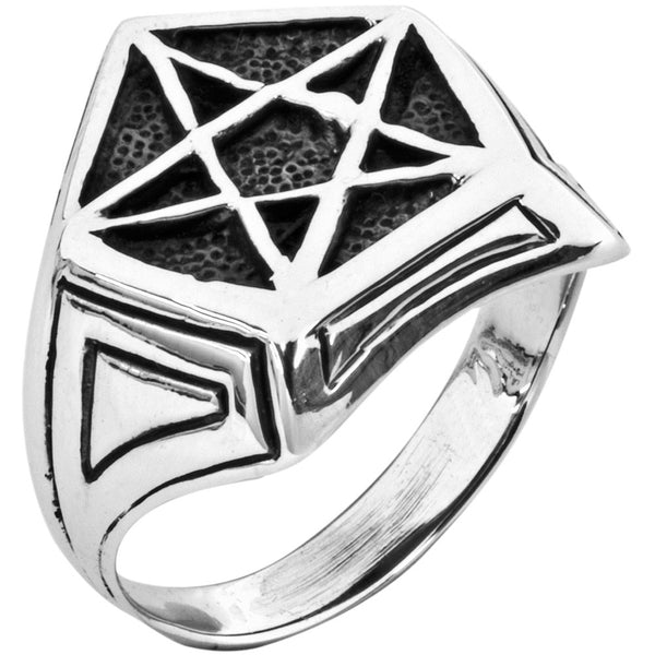 Pentacle Signet .925 Sterling Silver Ring