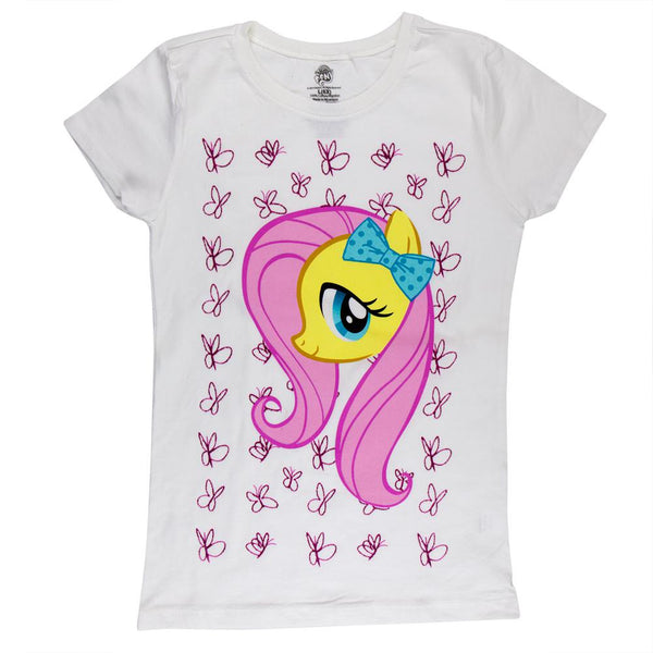 My Little Pony - Fluttershy in Butterflies Girls Juvy T-Shirt