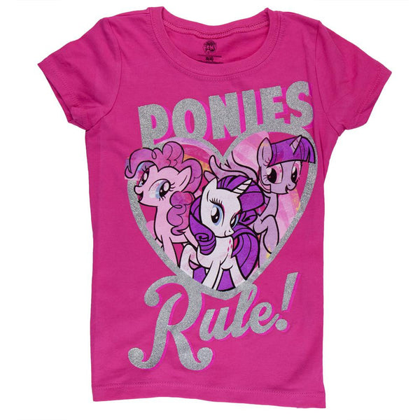 My Little Pony - Ponies Rule Heart Girls Juvy T-Shirt