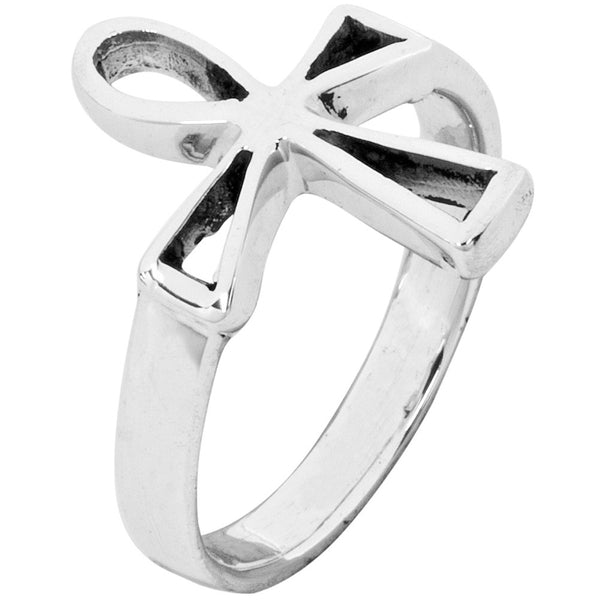 Cutout Ankh .925 Sterling Silver Ring