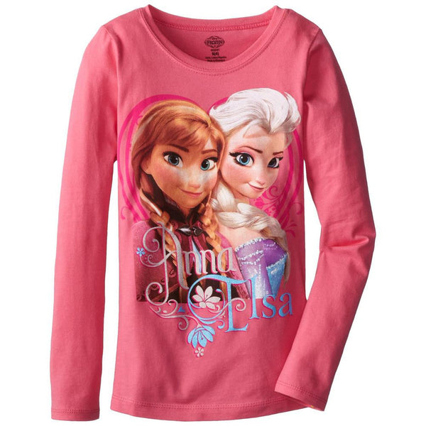 Frozen - Anna & Elsa Pose Girls Juvy Long Sleeve T-Shirt