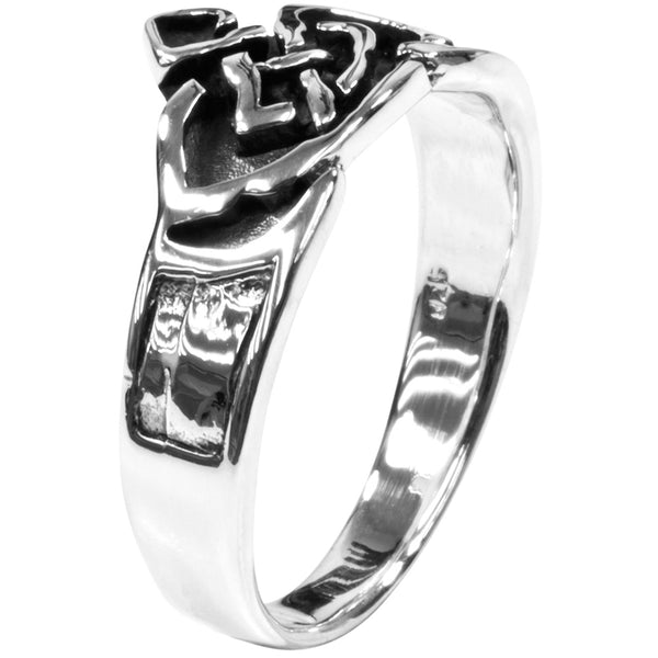 Celtic Claddagh .925 Sterling Silver Ring
