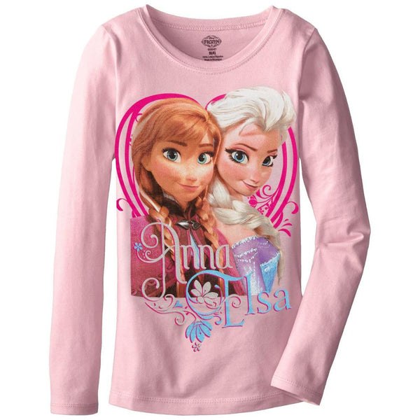 Frozen - Anna & Elsa Pose Girls Youth Long Sleeve T-Shirt