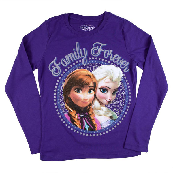 Frozen - Family Forever Girls Youth Long Sleeve T-Shirt