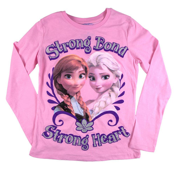 Frozen - Strong Bond Strong Heart Girls Youth Long Sleeve T-Shirt