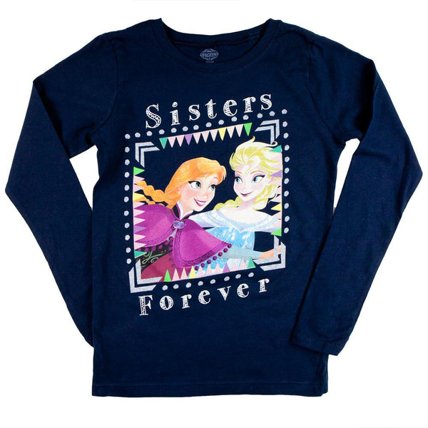 Frozen - Sisters Forever Square  Girls Youth Long Sleeve T-Shirt