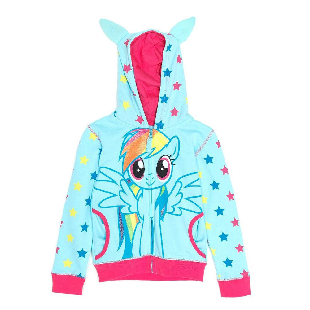 f3c5fadd300 My Little Pony - Rainbow Dash Front Girls Youth Costume Zip Hoodie –  OldGlory.com