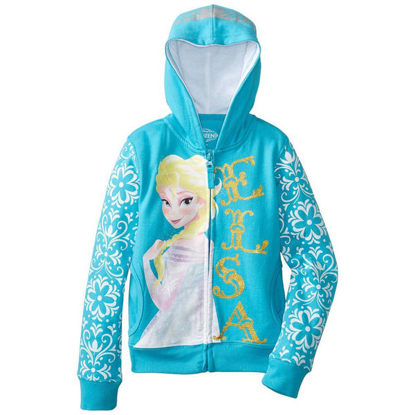 Frozen - Elsa Side View Girls Youth Zip Hoodie