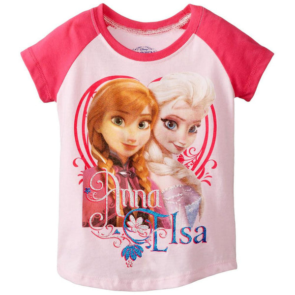 Frozen - Anna & Elsa Pose Toddler Raglan T-Shirt