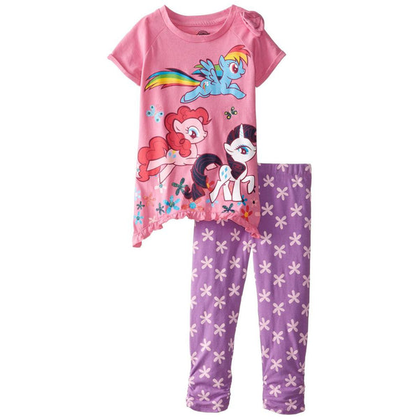 My Little Pony - Group Running Toddler Tunic Top and Leggings Set