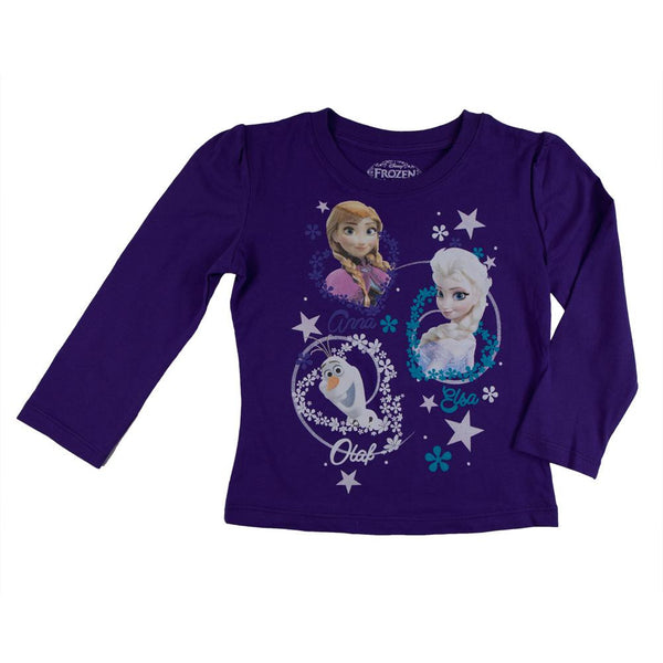 Frozen - Group Flakes & Hearts Toddler Long Sleeve